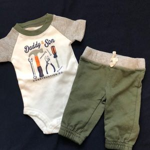Newborn Daddy and Son Outfit